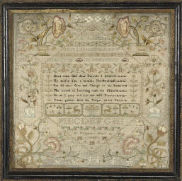 A GEORGE III NEEDLEWORK SAMPLE