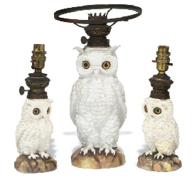 A SET OF THREE GERMAN PORCELAI