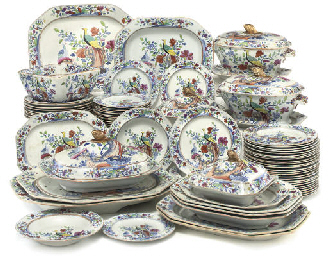 A SPODE 'STONE CHINA' 'PHEASAN