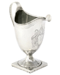 A GEORGE III SILVER HELMET CRE