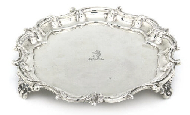 A GEORGE V SILVER WAITER