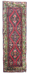 TWO SIMILAR KARABAGH LONG RUGS