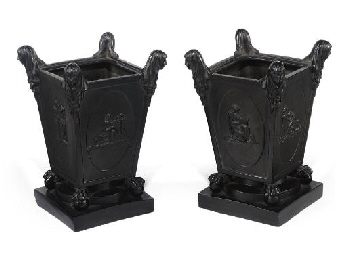 A PAIR OF TURNER BLACK BASALT