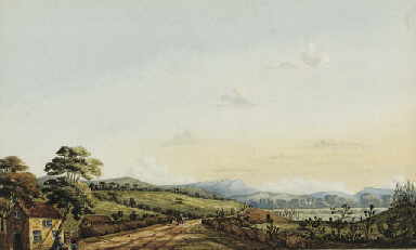 Travellers on a country road i