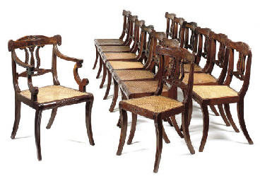 A SET OF FOURTEEN REGENCY MAHO