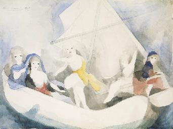 Femmes en bateau