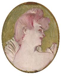 Portrait de femme (Médaillon p