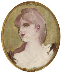 Portrait de femme (Médaillon pour la décoration du salon de la Maison de la rue d'Amboise, Paris)