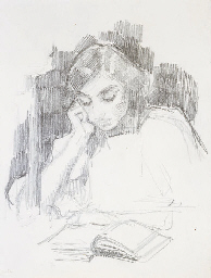 Elizabeth lisant