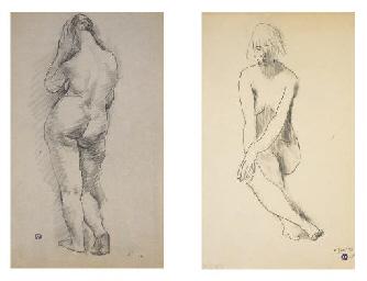 Femme nue debout et Femme nue