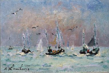 Retour des barques (Deauville)