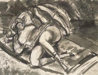 Femme à l'ombrelle (Les Canoti