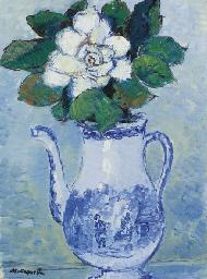 Rose blanche dans un vase