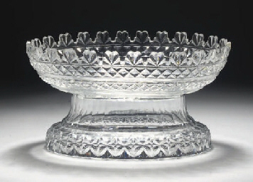 AN ANGLO-IRISH CUT-GLASS OVAL