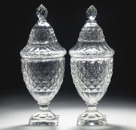 A PAIR OF CONTINENTAL CUT-GLAS