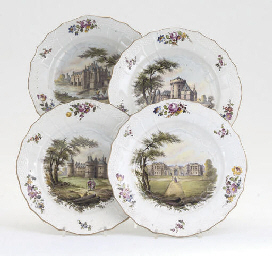 FOUR FRENCH POTTERY PLATES