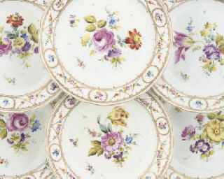 SIX CONTINENTAL PORCELAIN PLAT