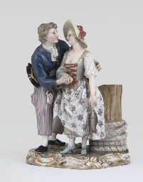 A MEISSEN GROUP OF A SAILOR AN