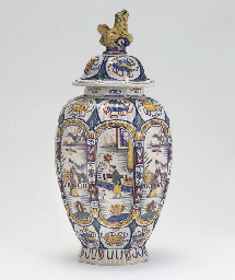 A PARIS (SAMSON) FAIENCE VASE