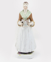 A MEISSEN FIGURE OF A MAID, LA