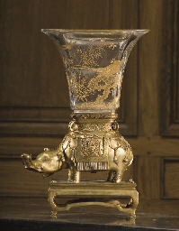 A FRENCH ORMOLU AND ENGRAVED G