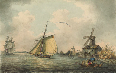 An armed cutter running up the