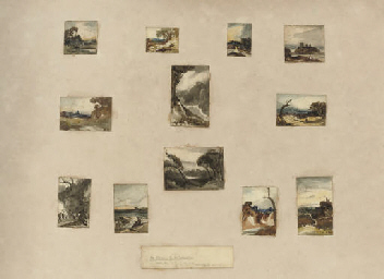 Twelve landscape sketches