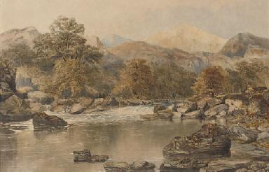 Falls in a highland landscape