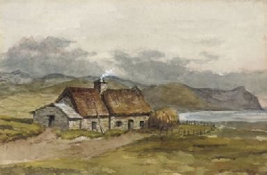 A crofter's cottage on the coa