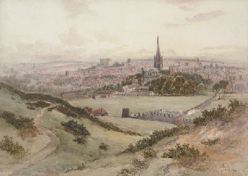 An extensive view of Norwich