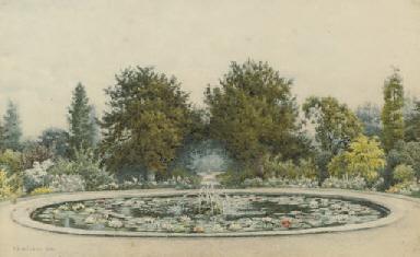 The gardens at Hampton Court P