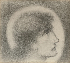 Study of a head, in profile