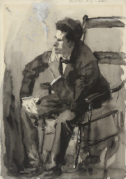 Study of a man, seated in a ch