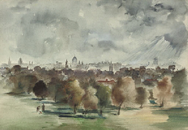 View across London from Batter