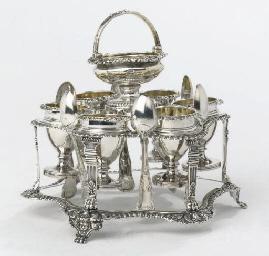 A George III Silver Egg-cruet