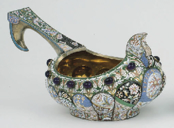 A large russian silver-gilt cl
