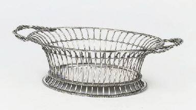 A Dutch silver bread-basket