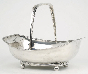 A Dutch silver cake-basket