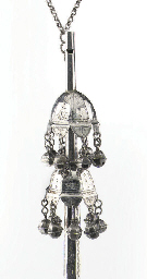 A fine dutch silver rattle