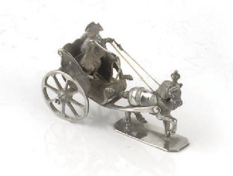 A dutch silver miniature of a