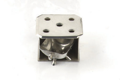 A Dutch silver miniature stove