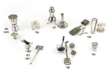 Four dutch silver miniature cu