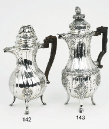 A Belgian silver coffee-pot