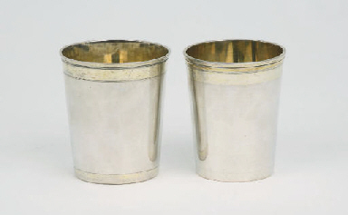 Two German Silver Beakers