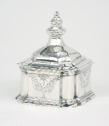 A German silver tobacco pot