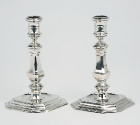 An early pair of Dutch silver