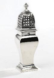 A Dutch silver caster