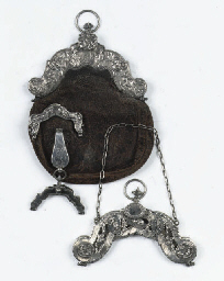 Two dutch silver bag-mounts, a