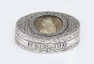 An unusual oval dutch silver s