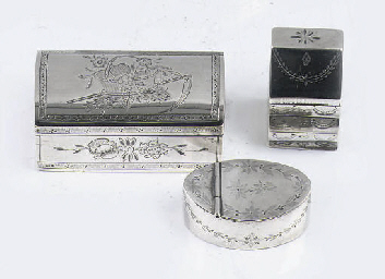A dutch silver-snuff box and t